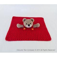 Teddy Bear Security Blanket Crochet Pattern  $3.99