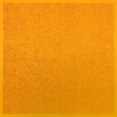 Lezlie Tilley  10,609 tiny stones arranged according to the laws of chance - yellow 2015  mixed media on paper - framed 53 x 53cm