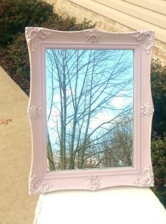 PINK COLLECTIONShabby Chic Vintage Mirror in by TheShabbyChicAttic, $90.00