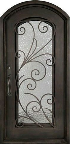 Beautiful wrought iron front entry door with gril… Summer Breeze Iron Door. Beautiful wrought iron front entry door with grille from Door Clearance Center. Iron Front Door, Front Entry, Entry Doors With Glass, Prehung Doors, Wrought Iron Doors, Front Door Design, Iron Art, Iron Gates, Entrance Doors