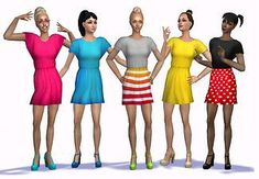 Mod The Sims - 5 recolors of Sentate's Wing Dress with Heels