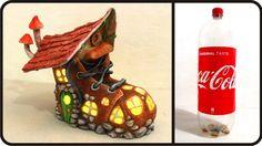 ❣DIY Fairy Boot House Lamp Using Coke Plastic Bottle❣