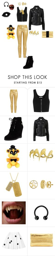 """""""Female Golden Freddy"""" by cheshire-wolf ❤ liked on Polyvore featuring Étoile Isabel Marant, T By Alexander Wang, MICHAEL Michael Kors, Witchery, Bjørg, Rachel Rachel Roy, BERRICLE, Nancy Gonzalez and Alexander Wang"""