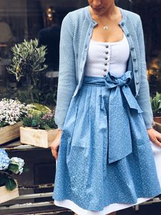 Dirndl Lara Pool Blue We want summer! ☀️🌸 Always wanted to figure out how to knit, nevertheles. Drindl Dress, The Dress, Knit Fashion, Boho Fashion, Dusty Blue Bridesmaid Dresses, Best Wedding Colors, Casual Dresses, Prom Dresses, Look Retro
