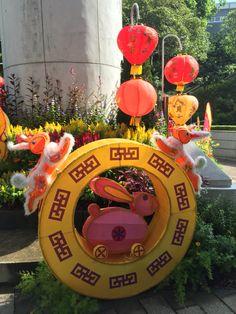 Mid-Autumn Festival decorations in HK Park