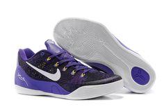 Low Kobe IX 9 EM Camo Court Purple/Black/White with Yellow Accents Women Size Footwear