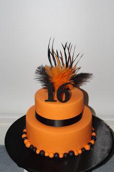 Orange 16th birthday cake...