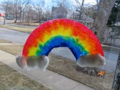 Color Blending Coffee Filter Rainbows from Joyfully Weary