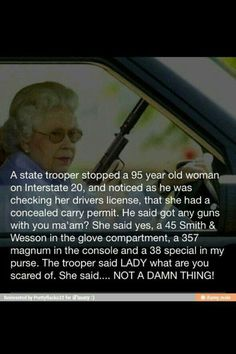 Way to go Granny!