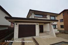 Proiect 36 | Casa cu etaj | Proiecte de case personalizate | Arhitect Gabriel Georgescu & Echipa Case, Garage Doors, Mansions, House Styles, Outdoor Decor, Home Decor, Mansion Houses, Room Decor, Villas
