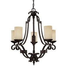 Capital Lighting 3605RI-125 5 Light River Crest Chandelier, Rustic Iron  - Lighting Universe