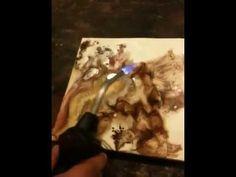 sergio pintando encaustica/encaustic painting short vid