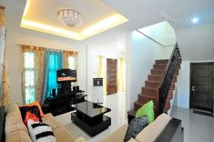 Myhaybol - photo gallery of real homes in the Philippines showcasing Filipino architecture and interior design. Best Modern House Design, Small House Interior Design, Apartment Interior Design, Home Room Design, Cool House Designs, Ceiling Design Living Room, Small Living Room Design, Home Ceiling, Interior Design Philippines