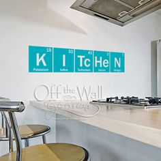 Another periodic table elements decal! Fun for the 'experimental' cook! Kitchen Periodic Table elements vinyl wall by OffTheWallExpression,