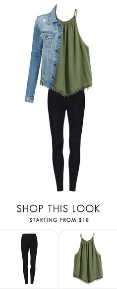 """Green Tank"" by izzyb826 on Polyvore featuring LE3NO"