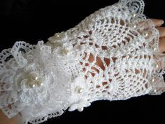 Crotchet ladies wedding glove | eBay