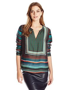 Adrianna Papell Women's Placement Print Tunic - http://darrenblogs.com/2015/11/adrianna-papell-womens-placement-print-tunic/