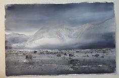 lars lerin Watercolor Landscape, Watercolor And Ink, Landscape Art, Landscape Paintings, Watercolor Paintings, Watercolours, Art Textile, Scandinavian Art, Snow Scenes