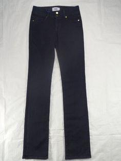 PAIGE DENIM straight CHAMPION high rise HIDDEN HILLS blue women's jeans SIZE 25 #PAIGEDENIM #StraightLeg