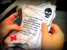Pirate Treasure Hunt for Outdoors, 10 Clues, Great for Birthday Parties