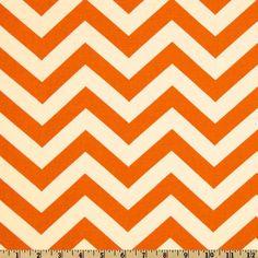 fabric: Premier Prints Zig Zag Mandarin Natural 5.98/yd