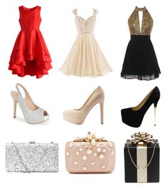 """""""Untitled #116"""" by baileykl on Polyvore featuring Chicwish, Lauren Lorraine, Qupid, Elie Saab and Kate Spade"""
