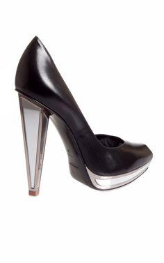 YSL Mirrored heel pump.