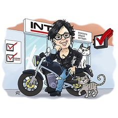 #custom #caricature #ryder #motorcycle #bike #woman #female #caricatura #personalizada