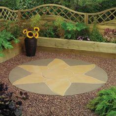 Livingstone Circle Paving & Standard Fitting Kit, Golden Sun (Dia) 1.8m, 5060076627858 £198