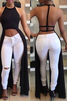 Crop Tops 444519425711418138 - Sexy Women Backless Halter Fashion Crop Top Source by annetheodor Mode Outfits, Sexy Outfits, Summer Outfits, Casual Outfits, Fashion Outfits, Fashion Clothes, Celebrity Outfits, Dress Clothes, Fashion Pants