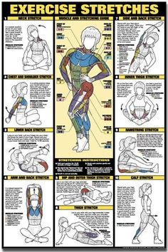 we mustn't forget the importance of stretching before and after we exercise (or even when not exercising), for flexibility, injury prevention and de-stressing!
