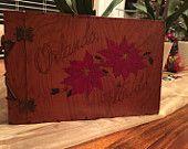 Vintage Wood Christmas Photo Album... Florida