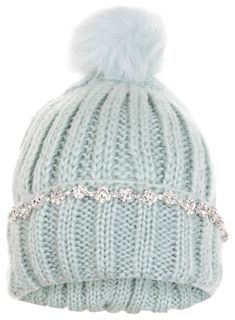 Mint Embellished Beanie Hat £14