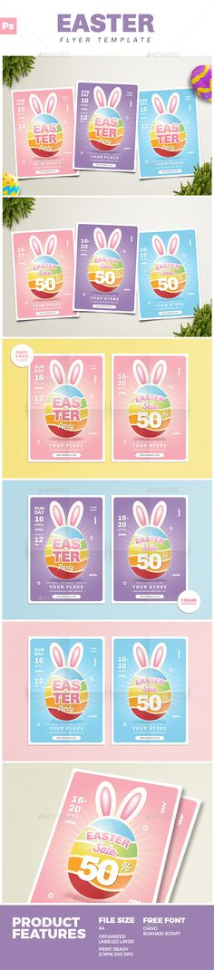 Easter Party  Sale Flyer Pinterest Easter party, Sale flyer and