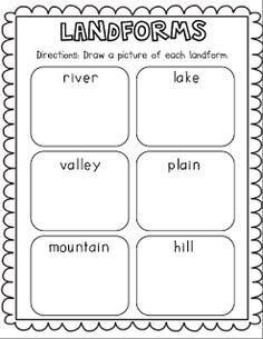 1000 images about landforms on pinterest social studies flip books and activity books. Black Bedroom Furniture Sets. Home Design Ideas
