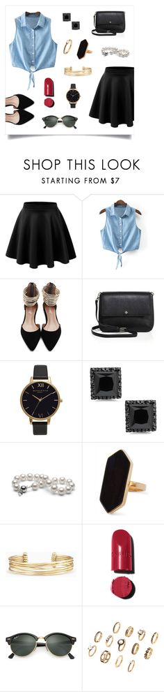 """Untitled #7"" by miagasp1234 ❤ liked on Polyvore featuring LE3NO, Tory Burch, Olivia Burton, Jaeger, Stella & Dot, Chanel and Ray-Ban"