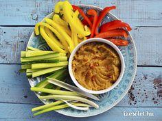 Csicsókahumusz - Receptek | Ízes Élet - Gasztronómia a mindennapokra Green Beans, Hamburger, Carrots, Dips, Curry, Vegetables, Health, Ethnic Recipes, Food