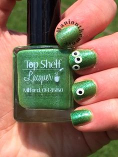 Alien Nails using Green Iguana by Top Shelf Lacquer