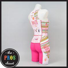 Canari Women's Ten 20 Triathlon Skinsuit // XS Run Bike Swim Cycling Pink Racing