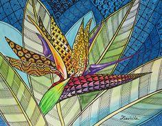 Radiant Flight Print by Davilla Harding