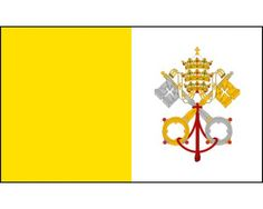 A beautifully crafted Vatican flag that even the Pope would be proud to display!