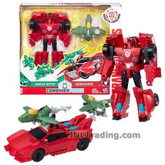 Transformers Year 2016 Robots in Disguise Combiner Force Series 5-1/2 Inch Tall Figure Activator Set - SIDESWIPE (6 Step Changer) with GREAT BYTE (1 Step Changer) Spiderman Car, Lego Transformers, Transformers Collection, Fun Activities For Toddlers, Star Wars Party, Bendy And The Ink Machine, Thundercats, Year 2016, Toddler Fun