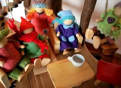 Myrtle & Eunice: How to Craft a Gnome  Use some of these ideas for a bendy doll esp. the size of the clothes