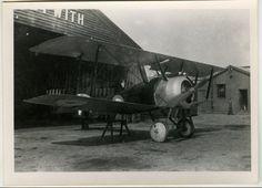 Sopwith Camel outside 'Sopwith Test Depot' at Brooklands, circa 1917