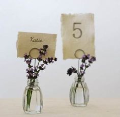 Looking for wedding place card holders? Our Glass Bud Vase Name Card Holders will add that something unique to your wedding table decorations - add a tiny flower to the place card holders. Wedding Reception Places, Wedding Place Settings, Wedding Vases, Wedding Stuff, Wedding Flowers, Wedding Ideas, Wedding Place Names, Centerpiece Wedding, Wedding Napkins