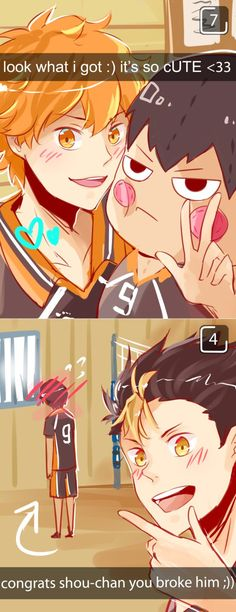 haikyuu! snapchats by OrangeMouse on DeviantArt