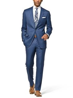 Groom's Suit - Blue Revenge Solid