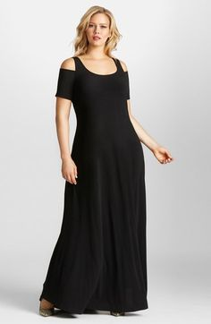 Mynt 1792 Cold Shoulder Maxi Dress (Plus Size) available at #Nordstrom