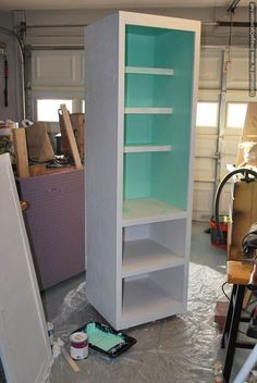 Instant diy pantry cabinet an easy kitchen storage solution mobile pantry cabinet diylikeaboss closet diy kitchen cabinets organizing painted furniture solutioingenieria Choice Image