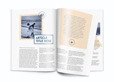 Magazine template - A4 - Indesign by White Hart Design Co. on @creativemarket